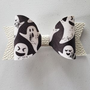Leather ghost hairbow